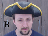 Tricorn Hat With Gold Trim